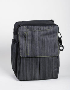 A suit grey Walter and Ray InTransit SLIM travel convertible backpack w/ carabiner.