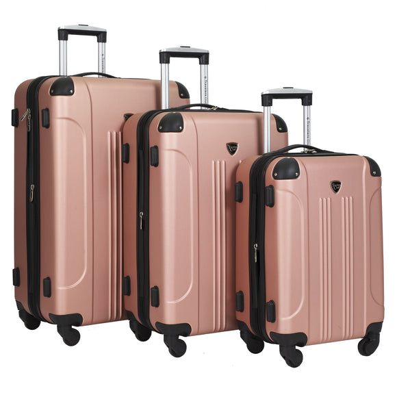 Chicago Expandable Hardside Luggage 3 Pc Set W/ 360⁰ (8) Wheels (Available in 2 colors)