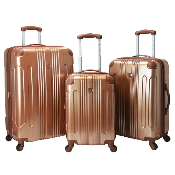 Polaris Metallic Hardside Expandable Spinner 3 Pc Set (Available in 3 colors)