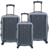 kensie Metallic Spinner Luggage Set - 3 pc (Available in 5 colors)