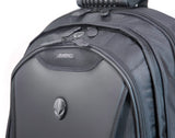 "A 1680 Denier Ballistic Nylon black 17.3"" Alienware Orion Laptop Backpack M17 w/ padded shoulder straps, alien logo, Ergonomic backing, rubberized handles & shoulder straps & Wireless Security Shield"
