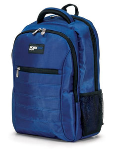 "A royal blue 1680D Nylon 16"" SmartPack Backpack w/ Fleece Lined Pouch for a Tablet, Ergonomic Ventilated Back Panel, Padded Shoulder Straps & Carry Handle & Exterior Mesh Water-Bottle Pockets"