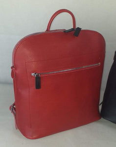 SWA Collection Leather Backpack - Red