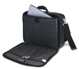 "An open ballistic nylon 15.6"" Select laptop Briefcase. Built-in elastic shoulder strap system, padded laptop pocket & multiple zippered compartments."