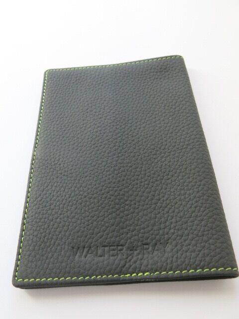 Leather Passport Holder - Elephant Grey