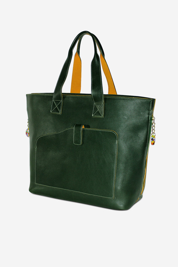 Shoppers Leather Tote (Available in 8 colors)
