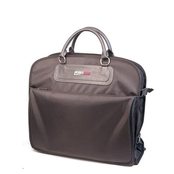 A black Traveler's Folding Garment Bag made of 900D Ballistic Nylon w/ heavy duty zippers & fittings