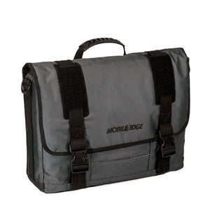 "A 17.3"" Graphite Messenger bag w/ Padded Computer Compartment, Removable ID Holder, Custom Molded Fasteners, Padded Back Panel, Full-Size Back Pocket, Padded Shoulder Strap"