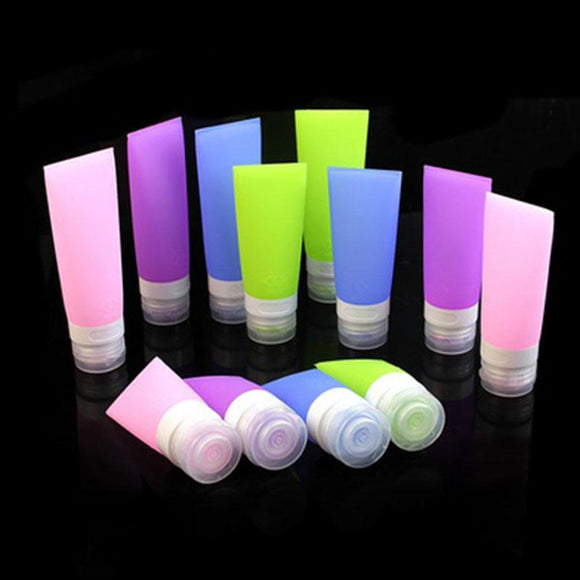 Refillable Silicone Travel Bottles (Available in 3 sizes & 4 colors)