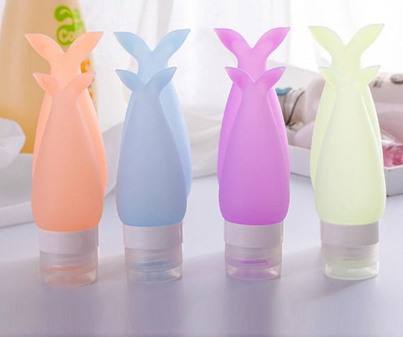 Mermaid's Tail Silicone Travel Bottles (Available in 2 sizes & 4 colors)