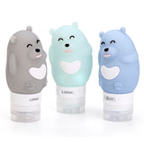 Cutie Silicone Travel Bottles (Available in 3 characters & 3 colors)