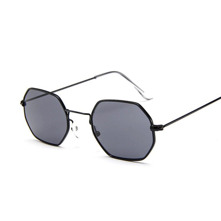 89863493fa Women Small Metal Frame Polygon Clear Lens Sunglasses – iuooke