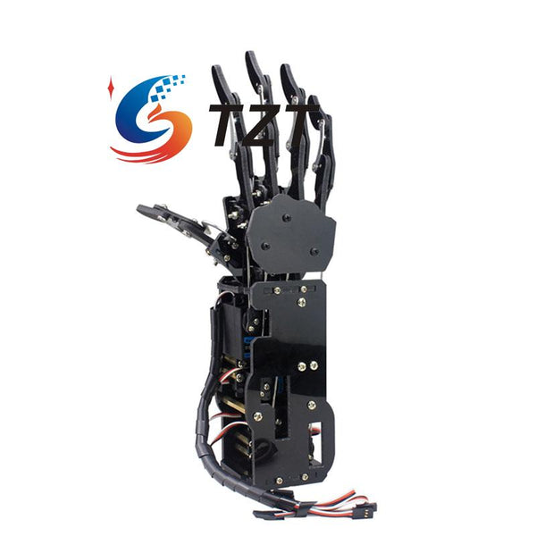 Robot Mechanical Arm Claw Humanoid Right Hand with Servos Assembled