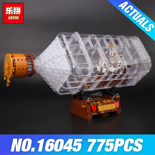 The Ship in the Bottle Set Building Blocks 775 Pieces