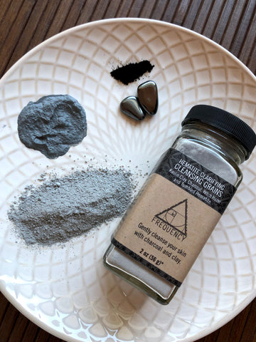 Clarifying Charcoal and Hematite Cleansing Grains and Face Mask