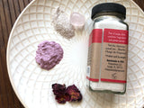 Gentle Rose and Rose Quartz Cleansing Grains and Face Mask