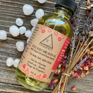 Rose and Rose Quartz Bath, Body, and Ritual Oil