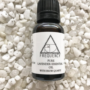 Lavender Pure Essential Oil with Snow Quartz