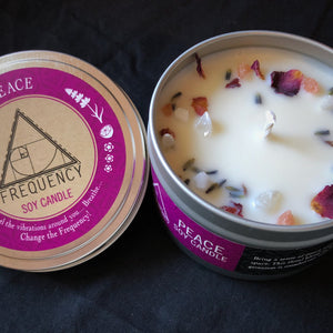 Peace Soy Candle - Crystal Infused