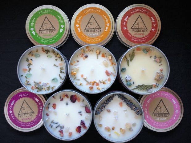 Positivity Soy Candle - Crystal Infused 1