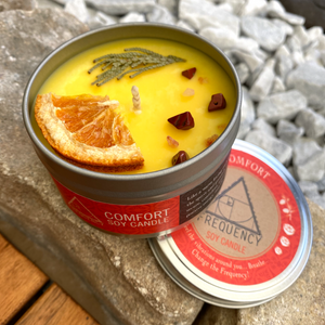 Comfort Soy Candle - Crystal Infused