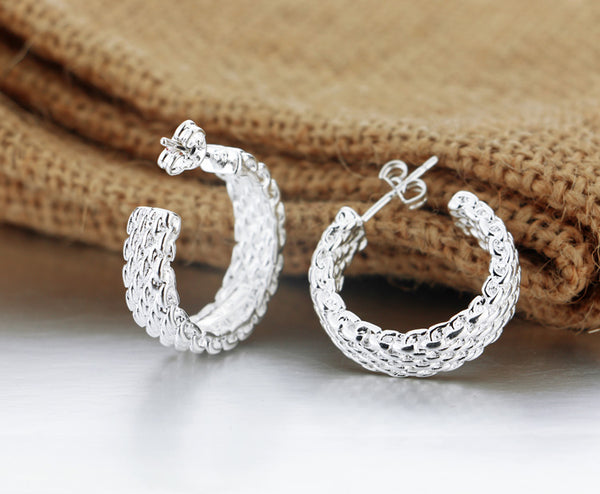 Sparkling Sterling Silver Earrings