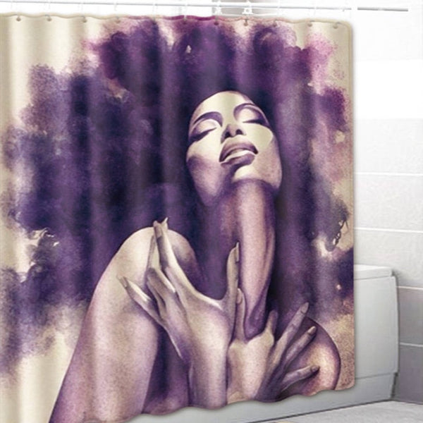 Modern Nubian Culture Shower Curtains