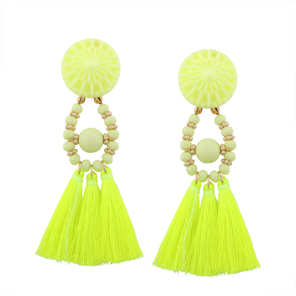 Beautiful Bohemian Long Tassel Fringe Earrings