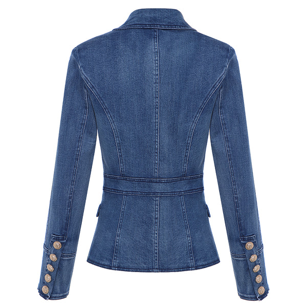 Women's Designer Double Breasted Denim Blazers