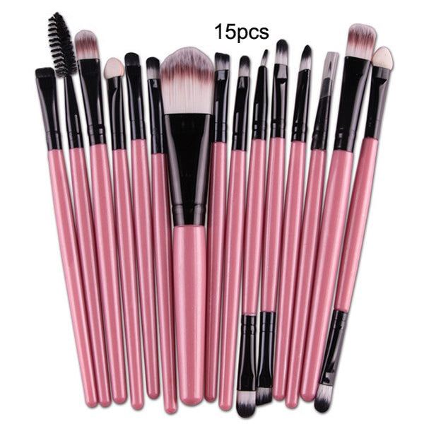 Professional Nylon Makeup Brush Sets 7Pc,10Pc,15Pc