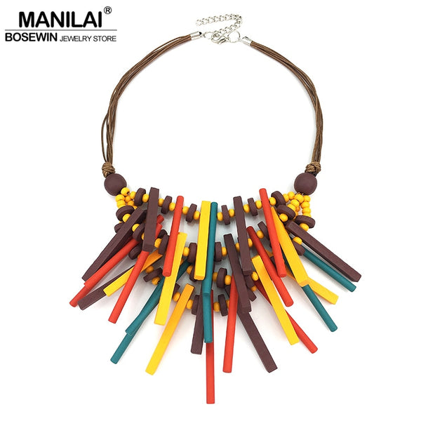 MANILAI Handmade Wooden Necklaces