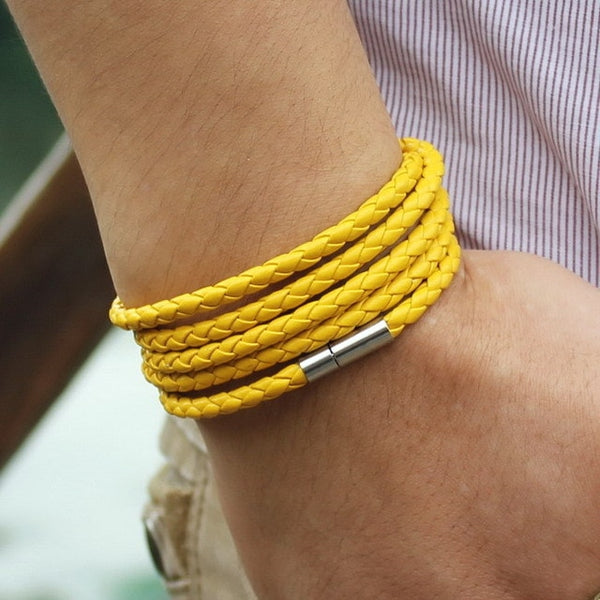 New Style! Popular Leather Bracelet For Men Assorted Colors