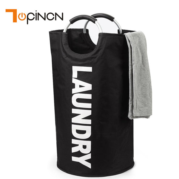 Collapsible Waterproof Laundry Bag With Alloy Handle