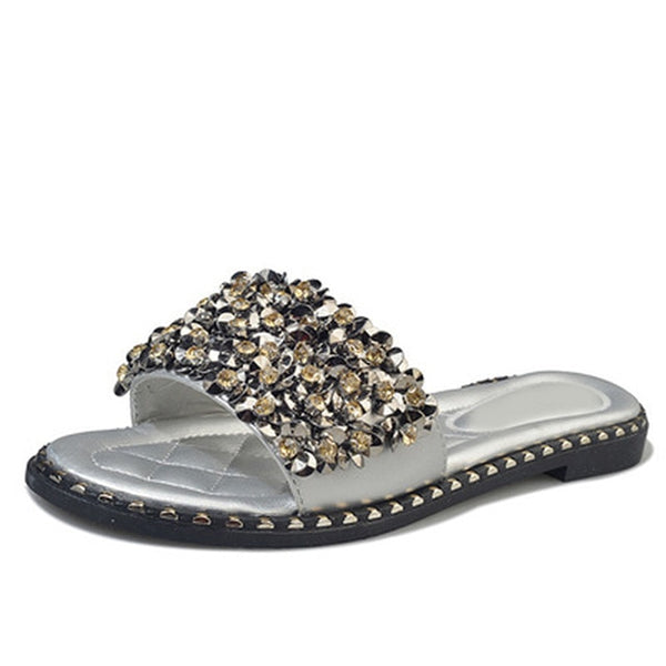 MCCKLE Women's Flat Slipper Sandal