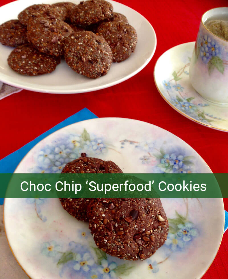 Choc Chip 'Superfood' Cookies