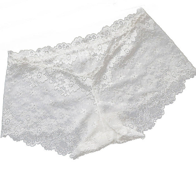 Full Lace Panties Low-waist Women Briefs Hollow Seamless Underpants
