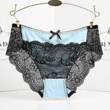 Women lace Panties Seamless Cotton Panty Hollow briefs Underwear Beige