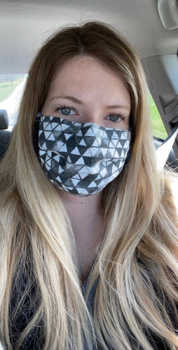 Double Layer Mask with Filter Pocket
