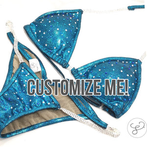 Jewell Custom Competition Bikini-Light Coverage Crystals