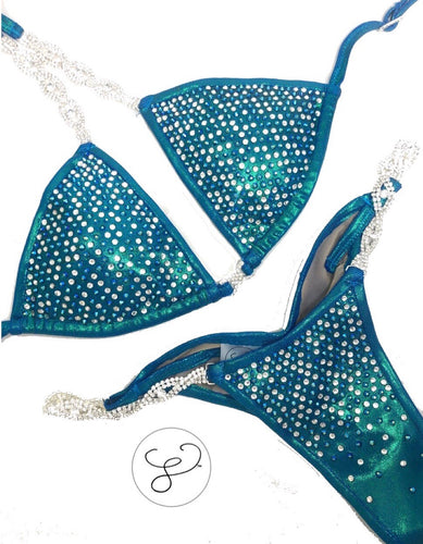 Jewell Pacific Blue Heavy Scatter Competition Bikini