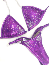 Jewell Grape Medium Center Burst Competition Bikini