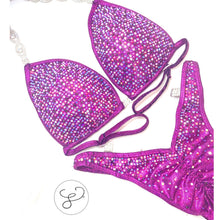 Jewell Fuchsia Heavy Crystal Figure Suit