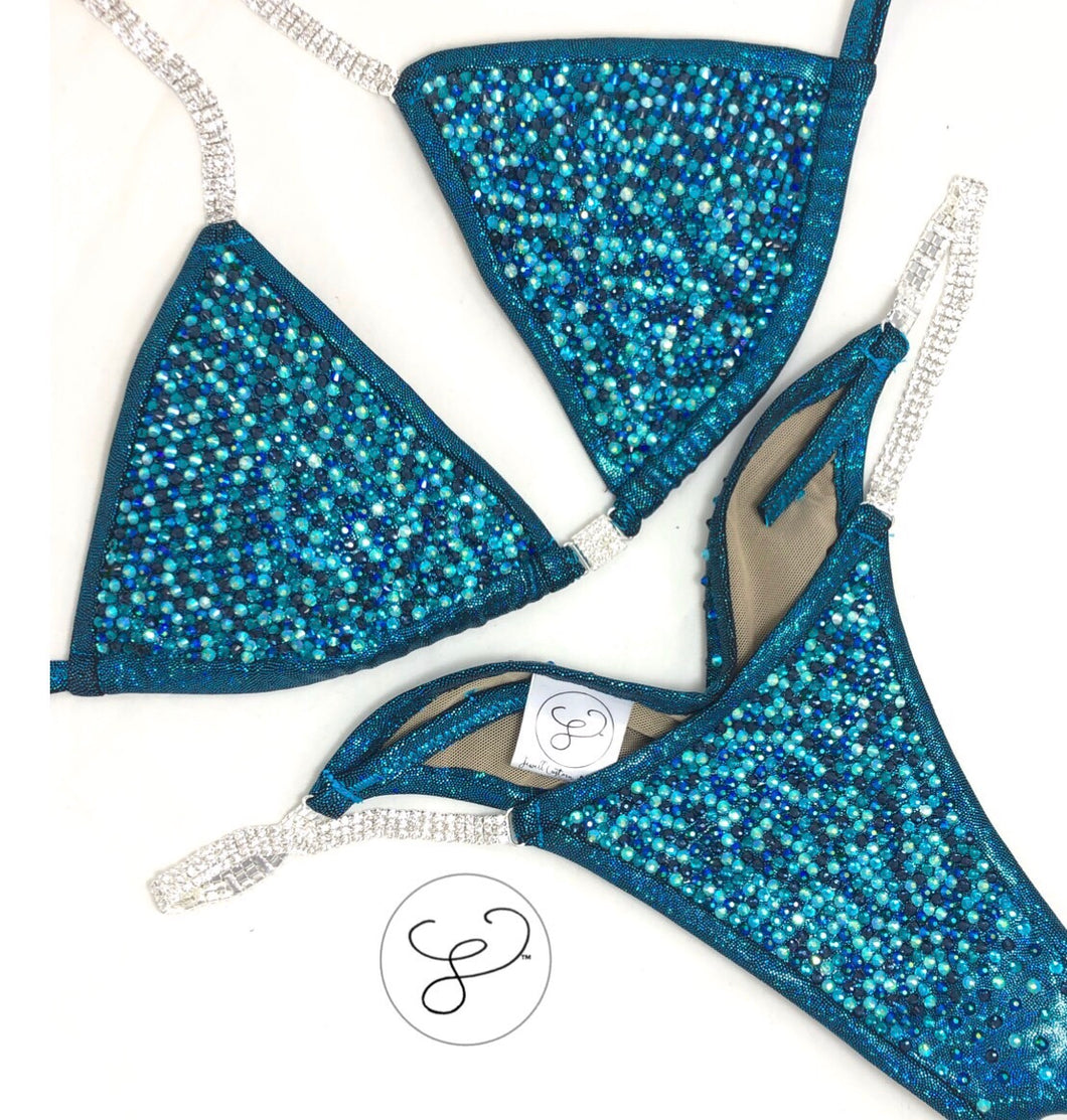 Jewell Turquoise Pro Scatter Competition Bikini