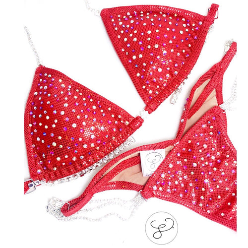 Jewell Red Razzle Dazzle Competition Bikini