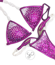 Jewell Fuchsia Waterfall Competition Bikini