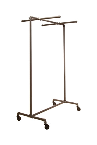 Non-Adjustable Ballet Bar Rack with Two Cross Bars