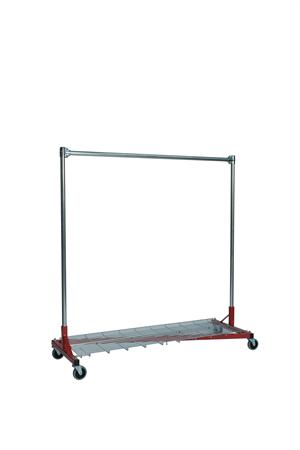 Quality Fabricators¨ Heavy Duty Garment Z-Rack : Bottom Shelf- 5' Base x 5' Uprights
