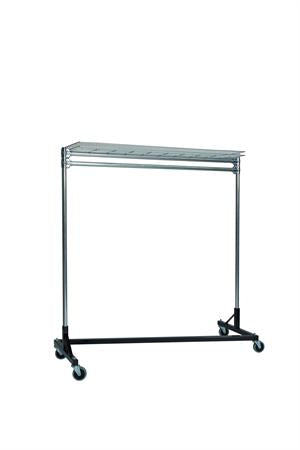 Quality Fabricators¨ Heavy Duty Garment Z-Rack : Top Shelf- 5' Base x 5' Uprights
