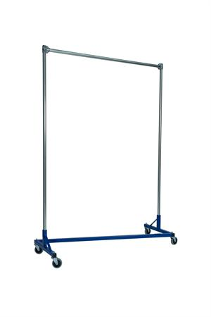 Quality Fabricators¨ Heavy Duty Garment Z-Rack : Single Rail - 5' Base x 7' Uprights