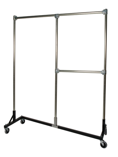 Quality Fabricators¨ Heavy Duty Garment Z-Rack : Quality Fabricators¨ Split Rail - 5' Base x 6' Uprights